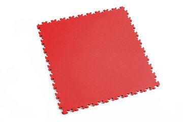 Profilor Light PVC Klick-Fliesen Rosso red Leder/glatt,...
